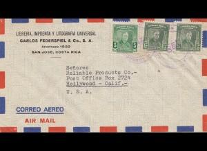 Costa Rica: 1947: Libreria to Hollywood USA