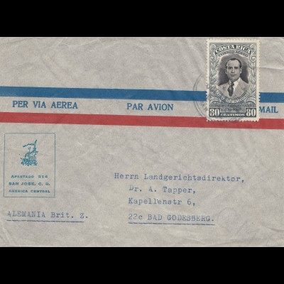 Costa Rica: 1948: per via Aera to Bad Godesberg