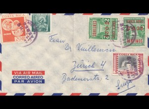Costa Rica: 1982: Air Mail San Jose to Zürich