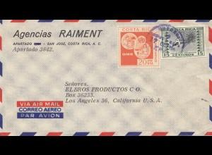 Costa Rica: 196x: Agencias Raiment San Jose to Los Angeles