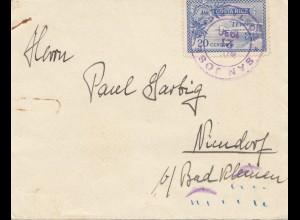 Costa Rica: 1930 San Jose to Niendorf