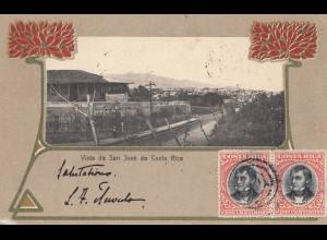 Costa Rica: 1904: post card San Jose to München