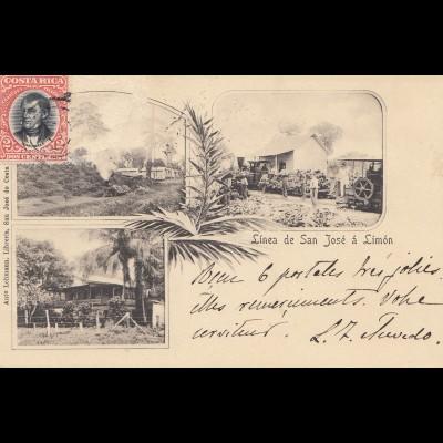 Costa Rica: 1904: post card Linea San Jose to München