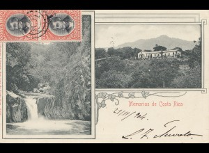 Costa Rica: 1904: post card 2 pictures San Jose to München