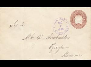 Costa Rica: 1903: San Jose to Pforzheim