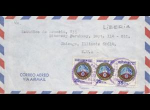 Costa Rica: 1970: Liberia to Chicago