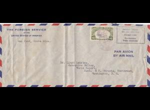 Costa Rica: 1948: Franco free San Jose to Washington