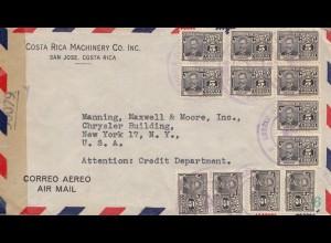 Costa Rica: 194x Machinery San Jose to USA - censor