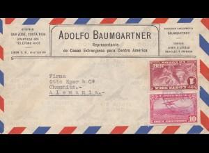 Costa Rica: 1931: San Jose to Chemnitz