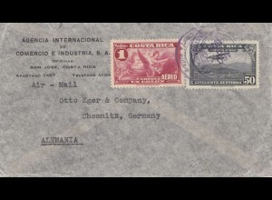 Costa Rica: 1936: San Jose to Chemnitz