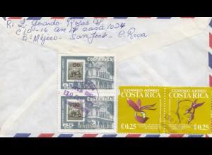 Costa Rica: 1977 letter San Jose to Köln