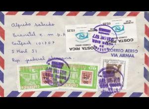 Costa Rica: 1977 air mail San Jose to Köln