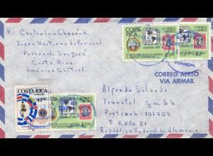 Costa Rica: 1977: Correo Aero via Air mail to Köln