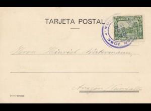 Costa Rica: 1930: post card Deuscher Verein San Jose to Turrialba