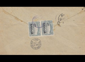Costa Rica: 1904: Limon via New York to London