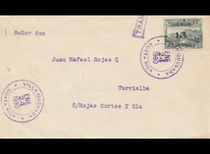 Costa Rica: 1930: Vialla Quesada to Turrialba