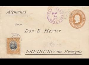 Costa Rica: 1905: San Jose to Freiburg