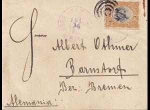 Costa Rica: 1905: San Jose to Barnsdorf