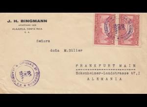 Costa Rica: 1939: San Jose - Frankfurt