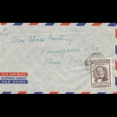Costa Rica: 1957: letter to Wien