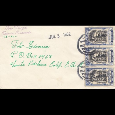Costa Rica: 1952: Tilaran Guanacaste to Santa Barbara