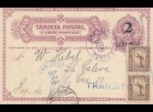 Costa Rica: 1911: San Jose to to La Calera - Chile