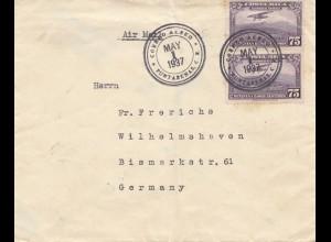 Costa Rica: 1937: Funtarenas to Wilhelmshaven
