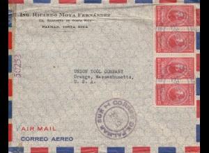 Costa Rica: 1944: Palmar to Orange-Mass. USA