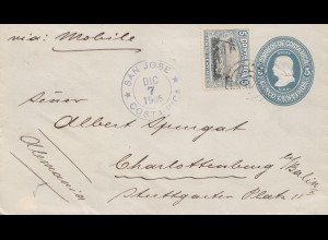 Costa Rica: 1905: San Jose to Charlottenburg
