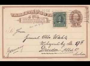 Costa Rica: 1919: San Jose to Dresden