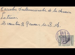 Costa Rica: 1954: letter to USA - international school
