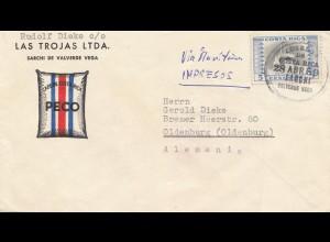 Costa Rica: 1959: Valverde Vega to Oldenburg