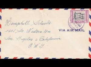 Costa Rica: 1954: San Jose to Los Angeles