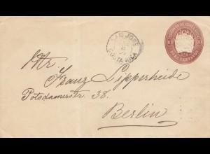 Costa Rica: 1894: San Jose to Berlin