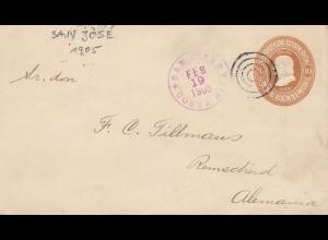 Costa Rica: 1905: San Jose to Remscheid