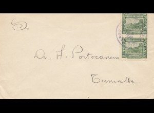 Costa Rica: 1930: letter San Jose to Turrialba