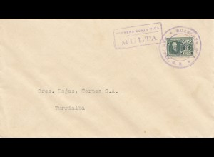 Costa Rica: letter Multa to Turrialba