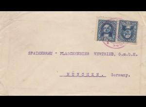 Costa Rica: 1892: letter to Spatenbräu - Flaschenbier München - beer brewery