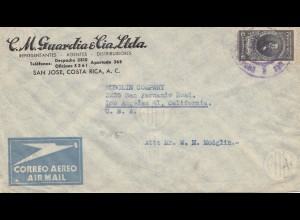Costa Rica: 1947: San Jose to Los Angeles