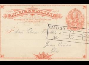 Costa Rica: 1907: Cartago post card