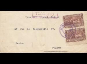 Costa Rica: 1925: letter Transito to Paris