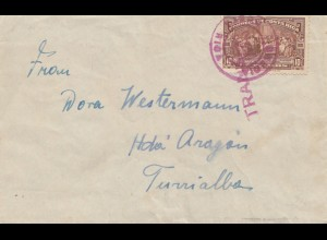 Costa Rica: 1926: letter to Turralbas