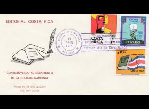 Costa Rica: 1976: San Jose Editorial Costa Rica - FDC