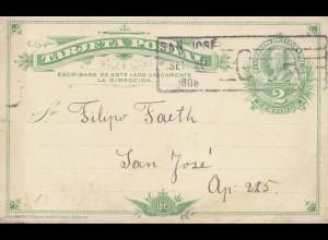Costa Rica: 1908: San Jose post card