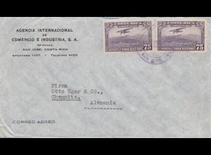 Costa Rica: letter San Jose to Chemnitz