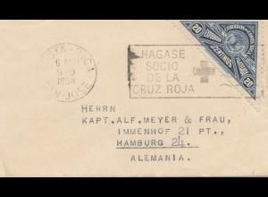 Costa Rica: 1938: San Jose Cruz Roja-Red Cross- to Hamburg