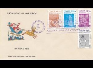 Costa Rica: 1975: FDC Pro Ciudad de Los Ninos