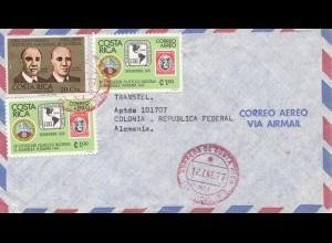 Costa Rica: 1977: San Jose to Colonia-Köln - airmail