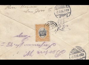 Costa Rica: 1906: San Jose to Potsdam - forwarded to Berlin