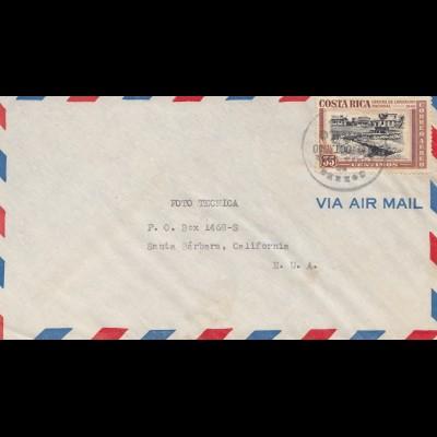 Costa Rica: 1950: San Jose to Santa Barbara
